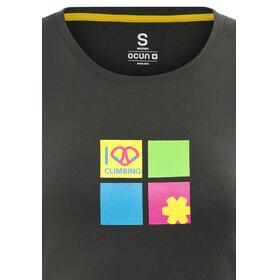 Ocun Pop Art Love t-shirt Dames zwart